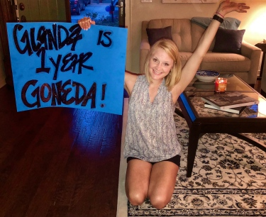 Glanda is 1 year Goneda